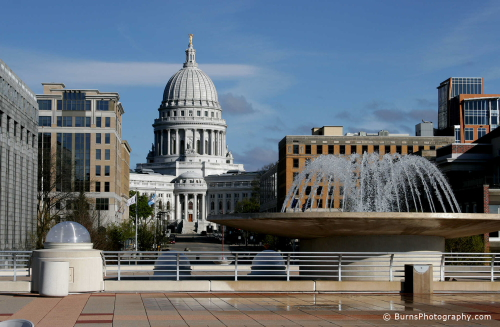Madison capitol from monona terrace roof photography and for Madison terrace
