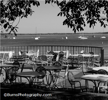 Madison Memorial Union Terrace Black and White