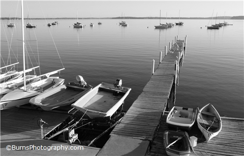 Picture of Mendota Sunrise Black and White
