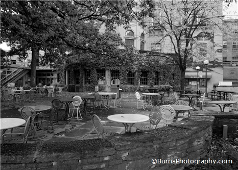 Memorial Union Terrace Black and White