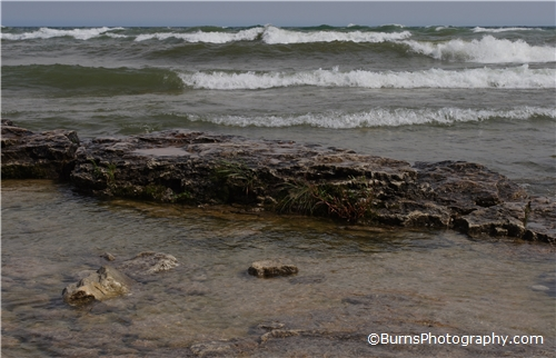 Picture of Waves and Rocks at Cana Island