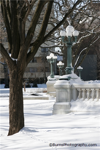 Picture of Lamp Posts and Snow