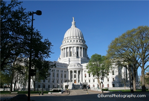 Wisconsin Capitol from East Washington Avenue