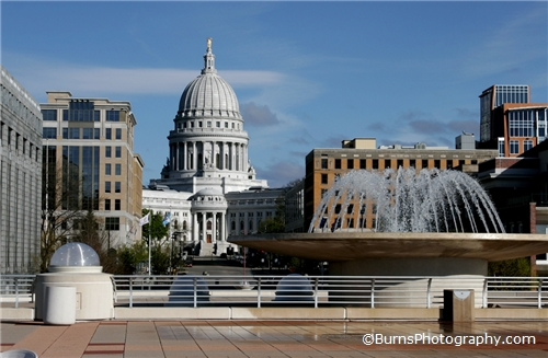 Picture of Madison Capitol from Monona Terrace Roof