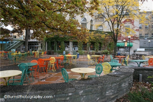 Memorial Union Terrace in the Fall