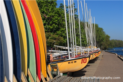 Picture of Colorful UW Sailboats