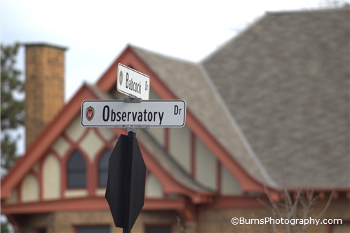Babcock and Observatory Drive Street Sign