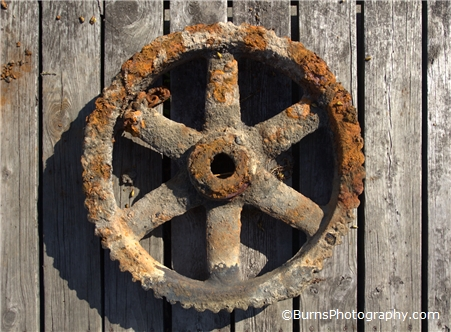 Rusted Wheel Recovered From Lake