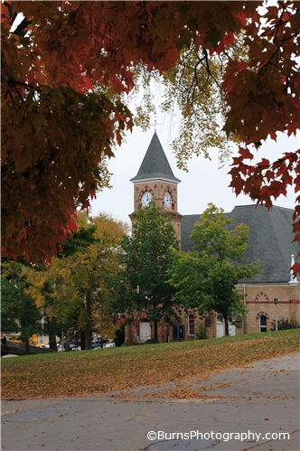 Picture of Music Hall in the fall